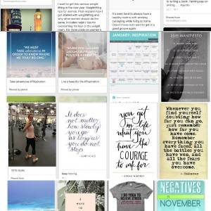 Inspiration boards + fitness necessities for 2015