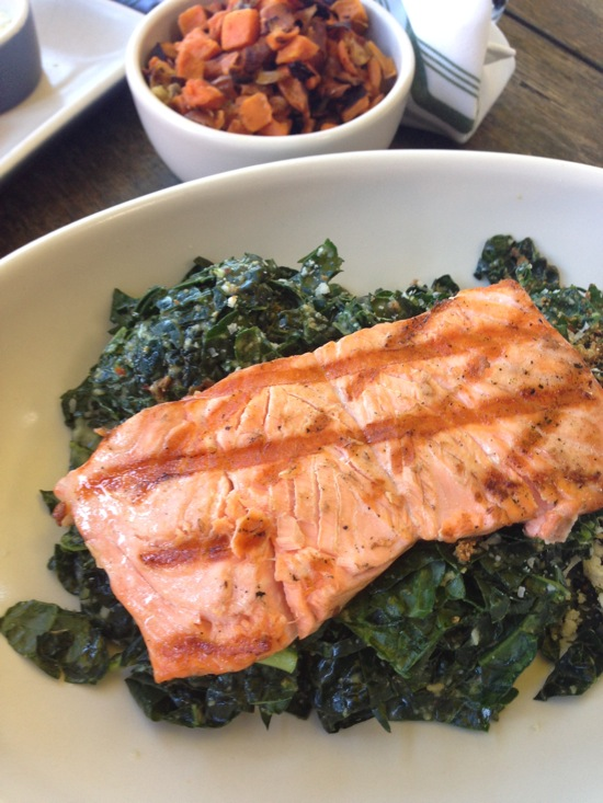 Kale salmon happiness