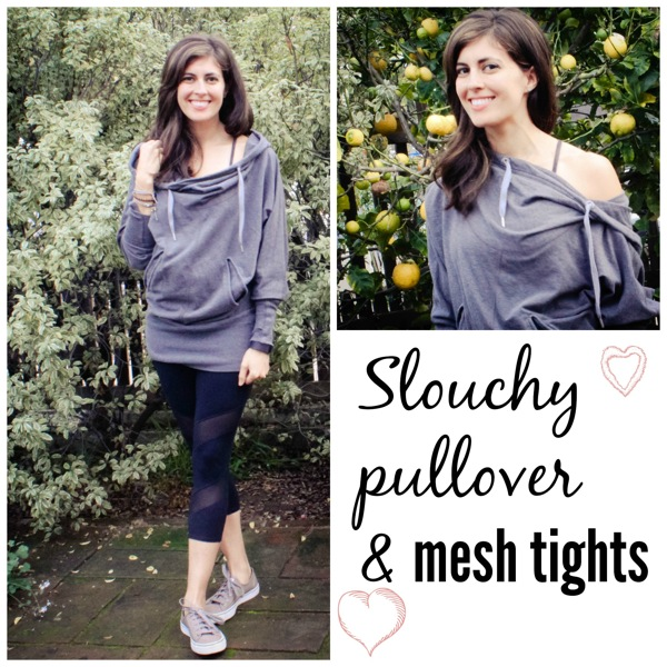 Pullover and mesh tights
