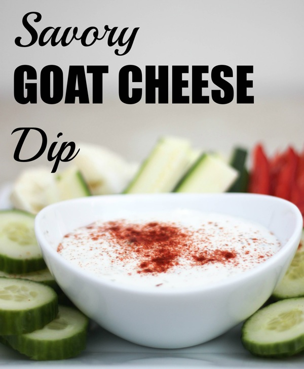Savory goat cheese dip