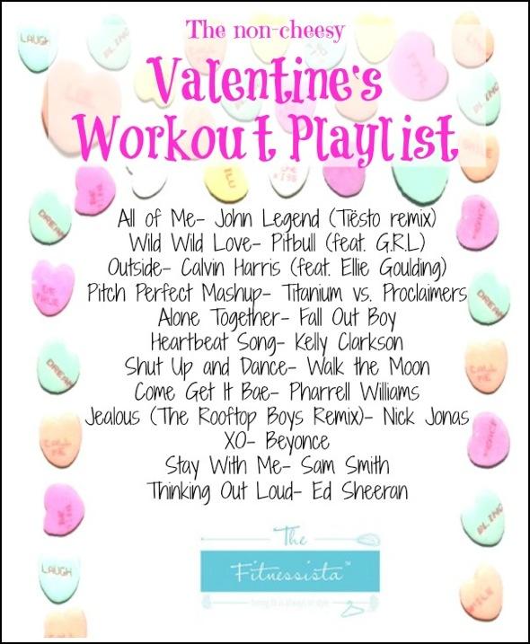 Valentine workout playlist