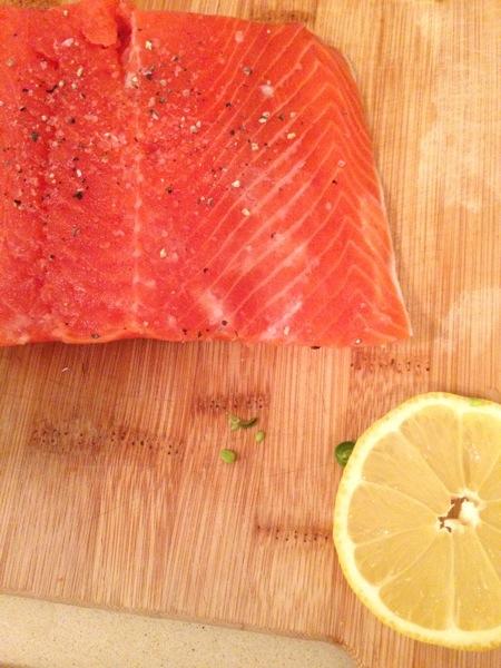 Wild raw salmon