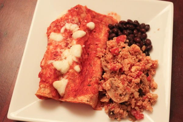 Enchiladas for dinner