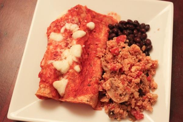 Enchiladas for dinner