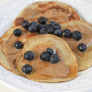 Banana Oat Pancakes With Nut Butter