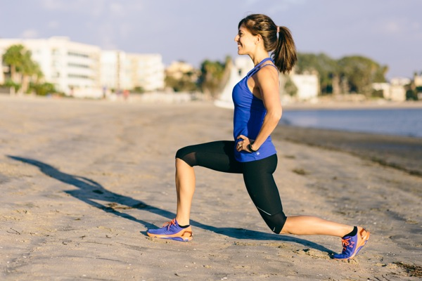 Lunges on the beach