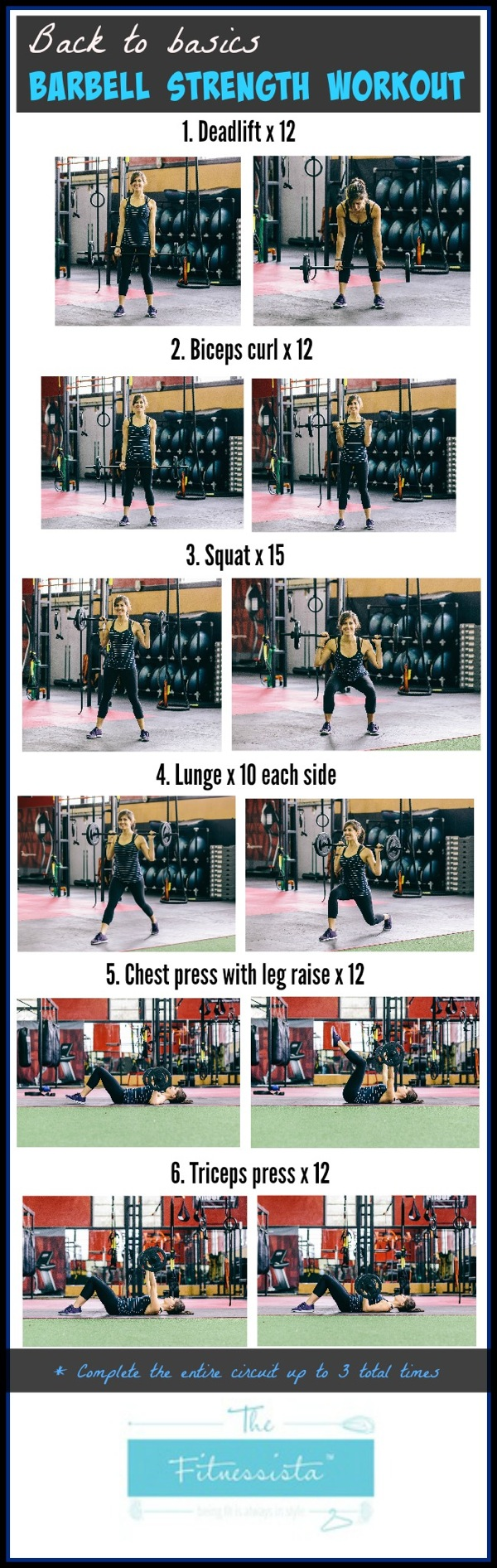 Barbell strength workout