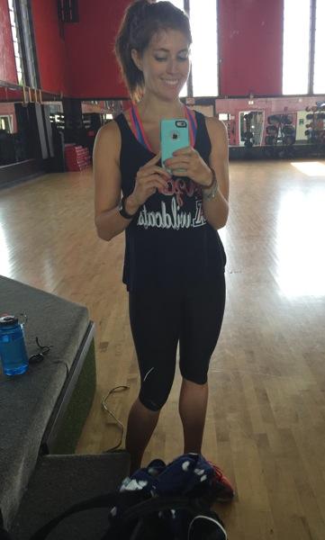 Gym mirror selfie