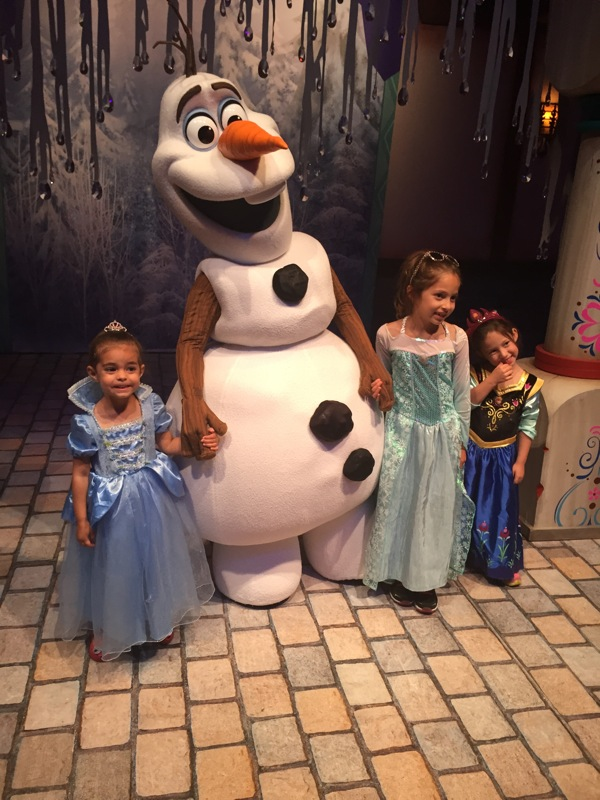 Cousins with olaf