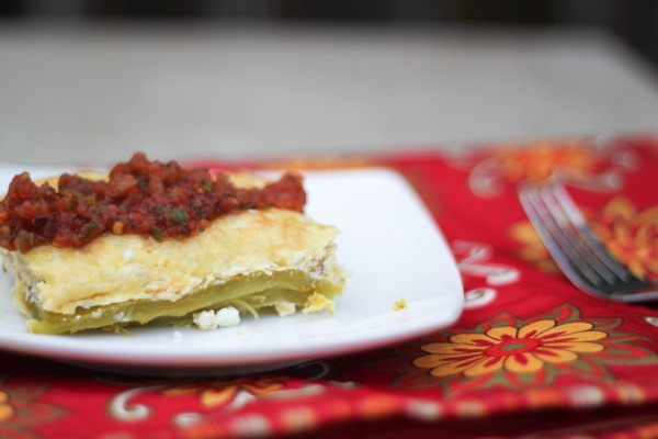 Green chile egg casserole