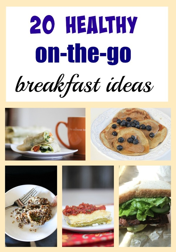 20 healthy on-the-go breakfast ideas to get your morning off to a good start! | fitnessista.com | #healthybreakfast #quickbreakfast #onthegobreakfast #breakfastrecipes #weekdaybreakfast