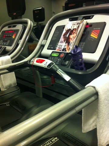 Treadmill and magazine