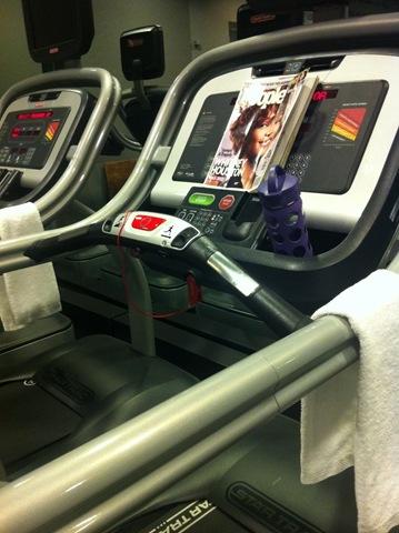 Treadmill and magazine