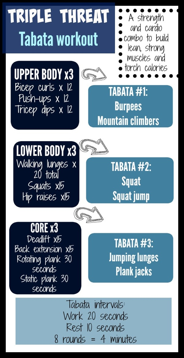 Triple threat tabata workout