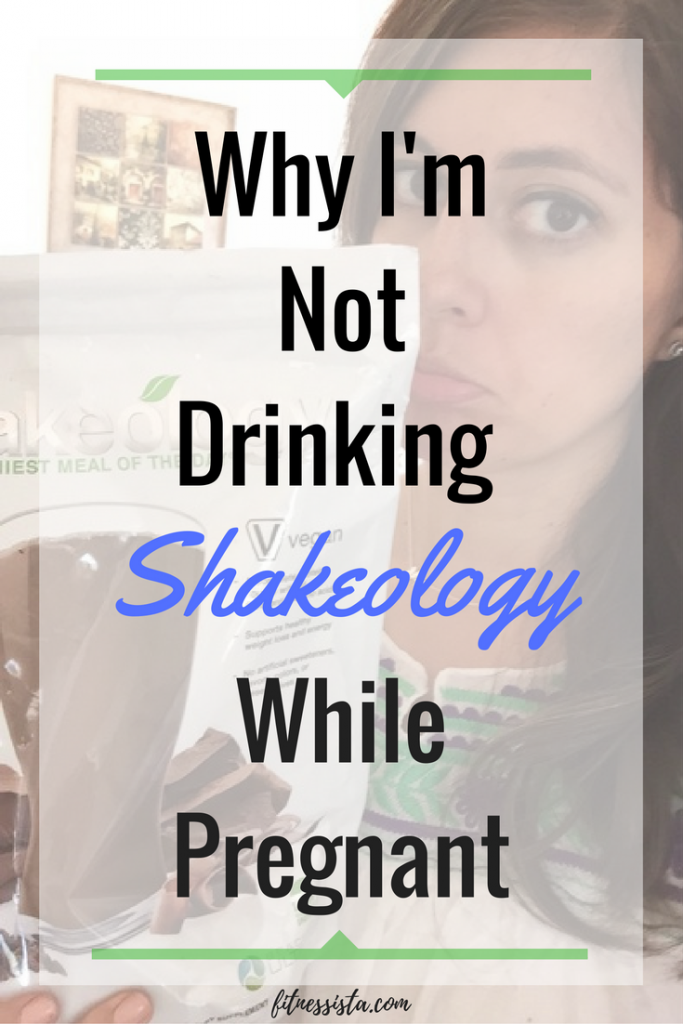 Here's my sad face over skipping Shakeology While Pregnant