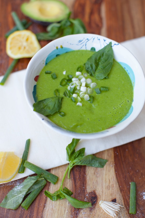 Zesty Zucchini Basil Soup