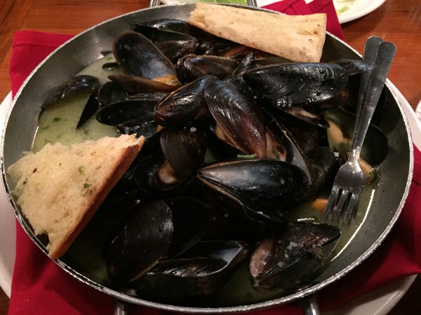 Black mussels