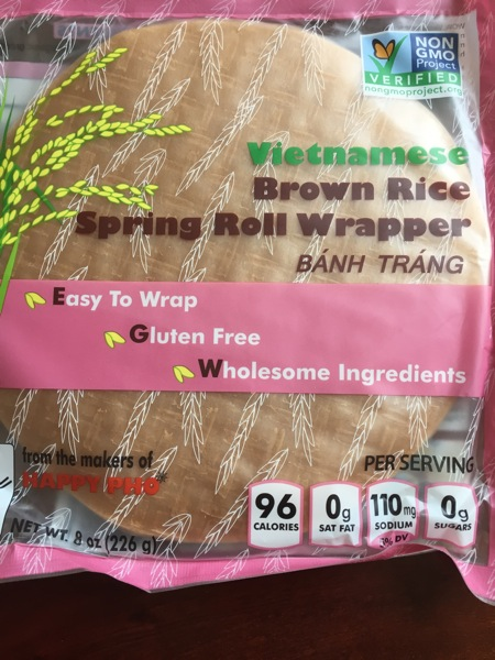 Brown rice spring roll
