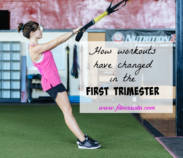 How workouts changed in the first trimester