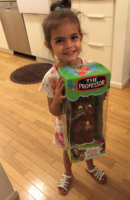 Liv with chocoltae bunny