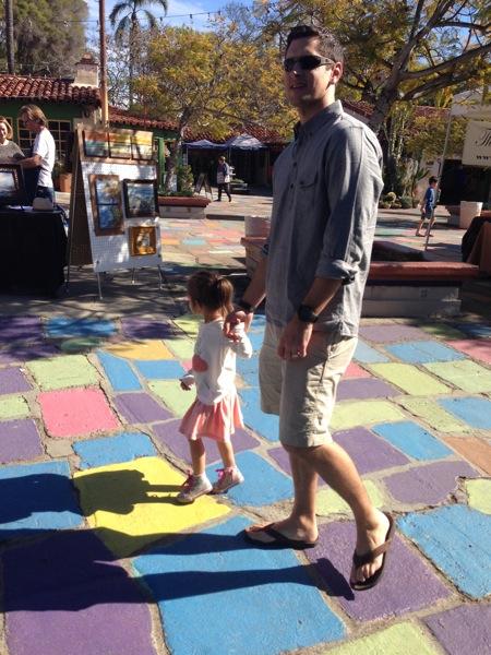 Walking around balboa