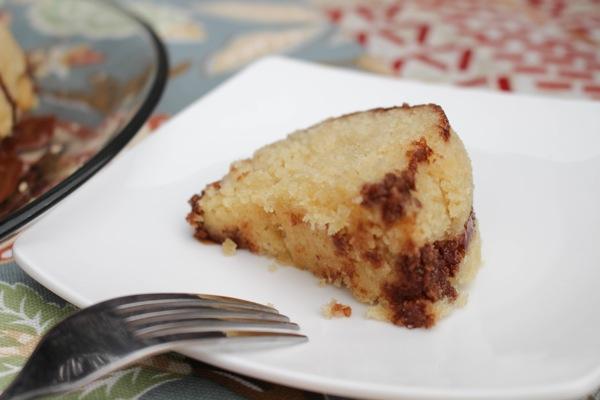 slice of gluten-free cake
