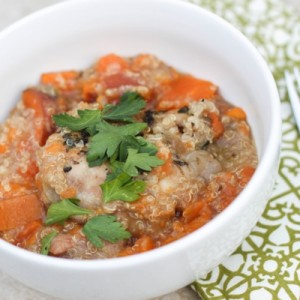 chicken, sweet potato and quinoa soup