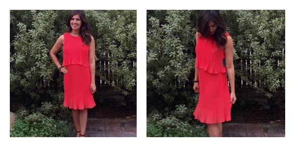Coral dress Stitch Fix maternity win