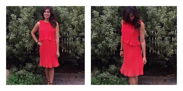 Coral dress Stitch Fix maternity win