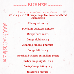 Total body barre burner