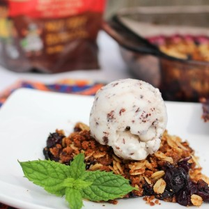 Oatmeal cookie blueberry crumble. A perfect make-ahead dessert for summer festivities! www.fitnessista.com