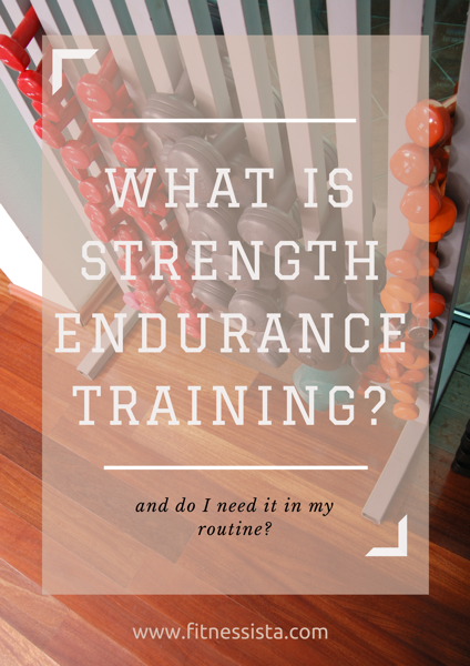 What is strength endurancetraining
