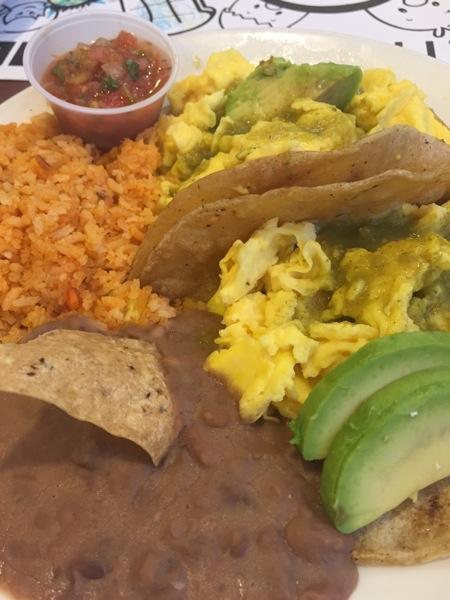 Broken yolk mexi breakfast