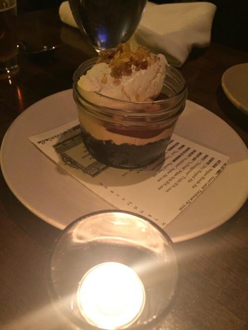 Chocolate dessert jar