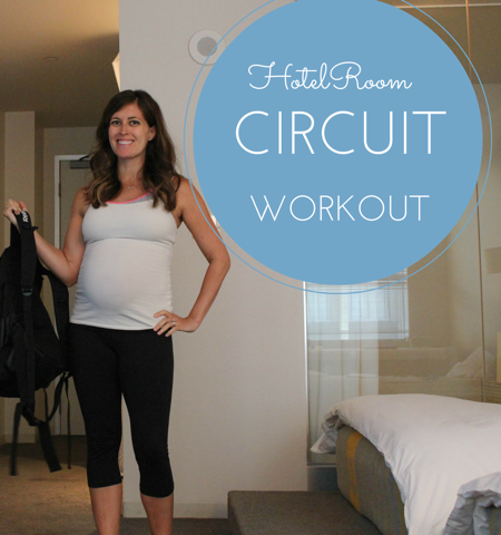 Hotel room workout -- all you need is a backpack to stay fit on vacation! fitnessista.com