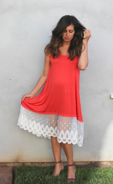 Lace hem dress 1 of 1