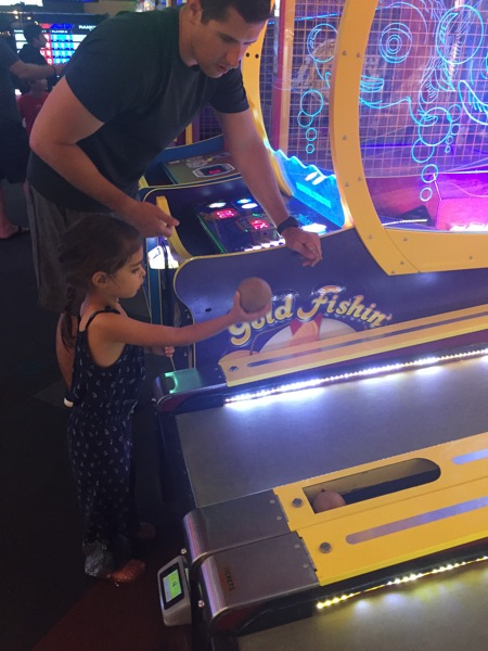 Livi and tom at arcade