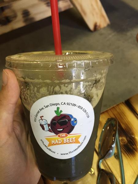 Mad beet green juice
