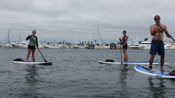 Paddleboarding w matt and kath