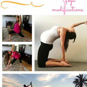 Prenatal yoga modifications