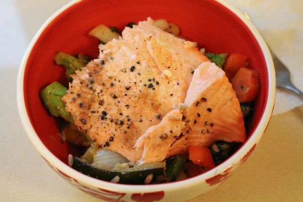 Salmon veggie bowl  1 of 1
