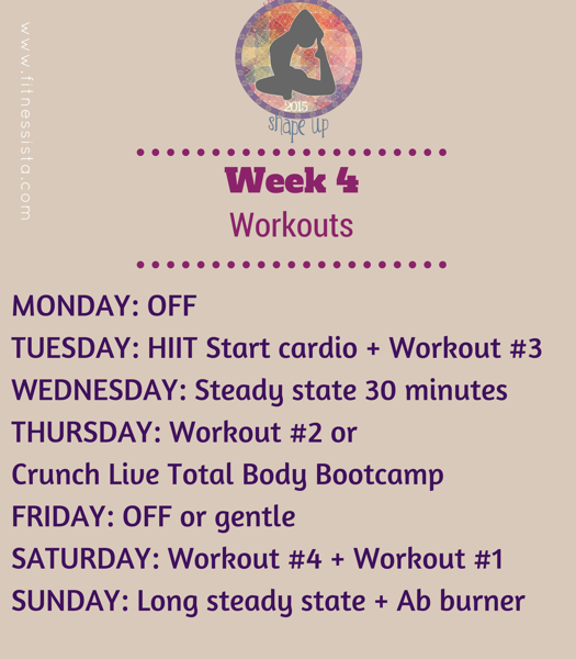 Ssu2015 week 4 workouts