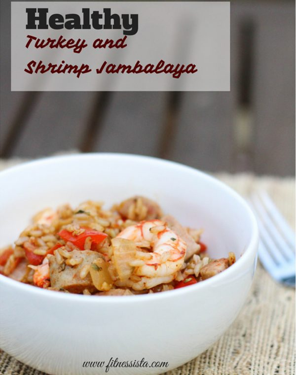 Healthy Turkey and Shrimp Jambalaya