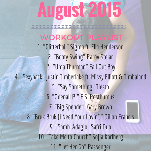 August 2015 workout playlist