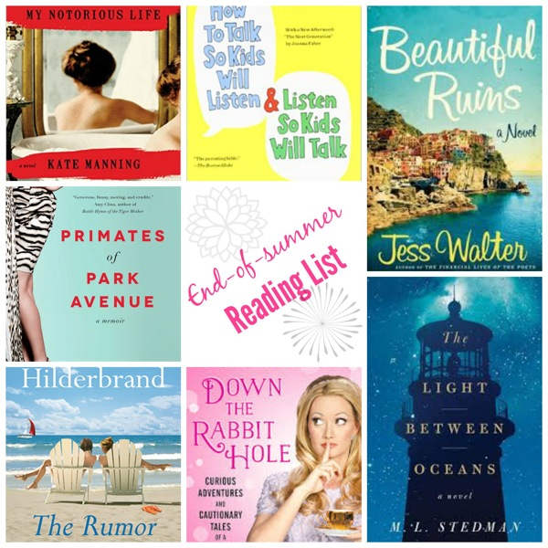 End of summer reading list