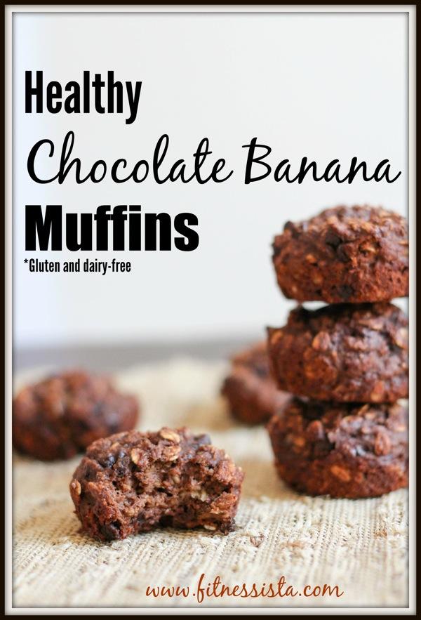 Healthy chocolate banana muffins  1 of 1 3