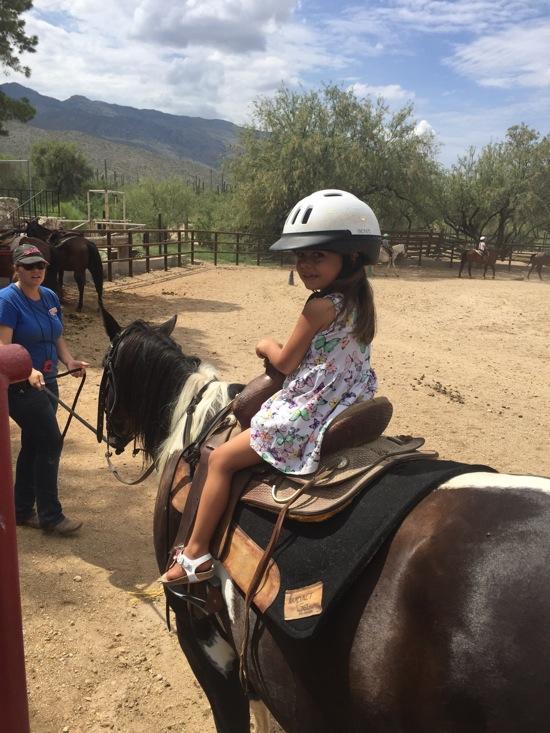 Livi on the horse