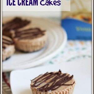 Almond butter ice cream cakes