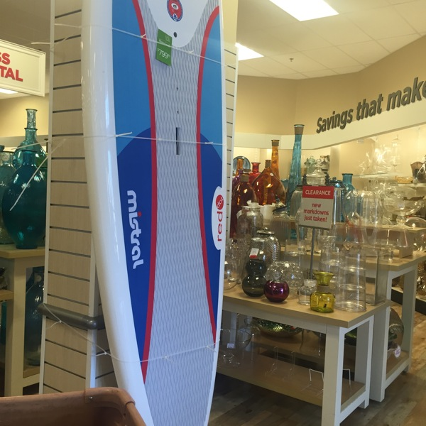 Paddleboard at home goods