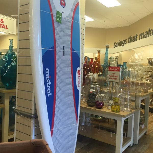Paddleboard at home goods